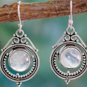 Boho Alloy Resin Dangle Earrings